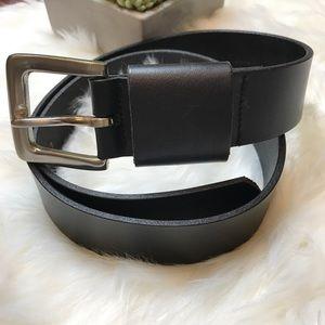 Calvin Klein Black Logo Leather Belt